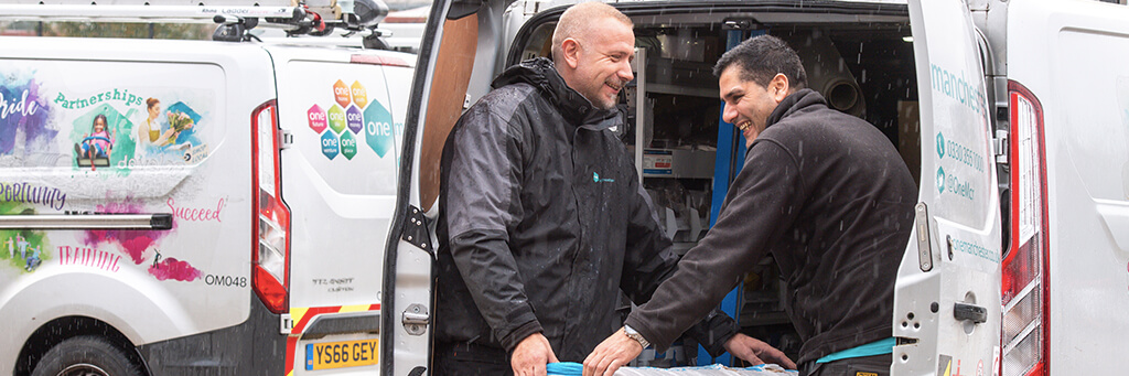 One Manchester repairs operatives with van