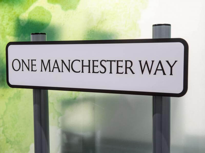 One Manchester Way sign