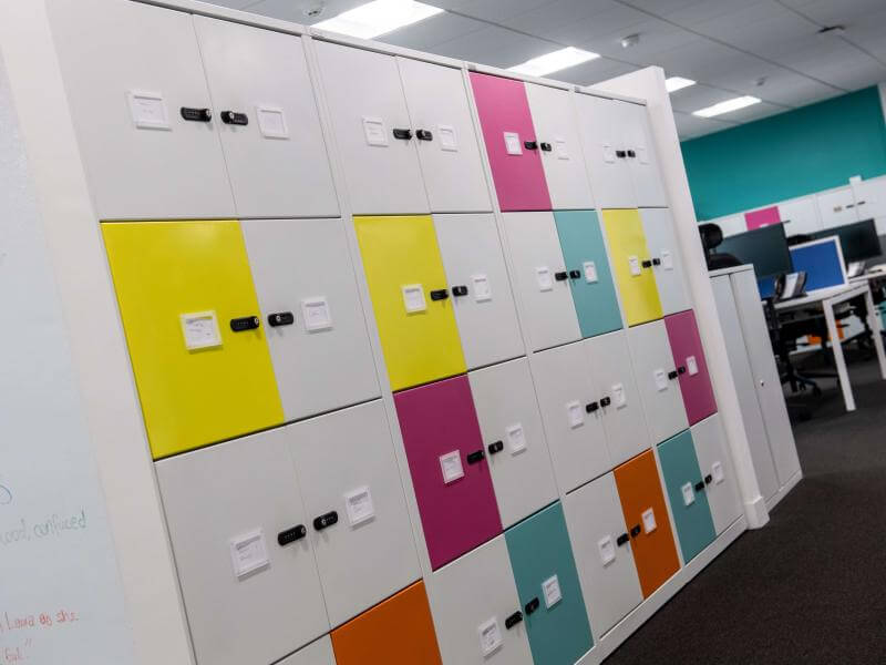Lockers at One Manchester office