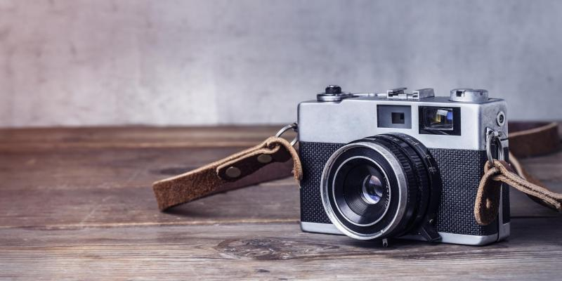 Close up of vintage camera by dashu83